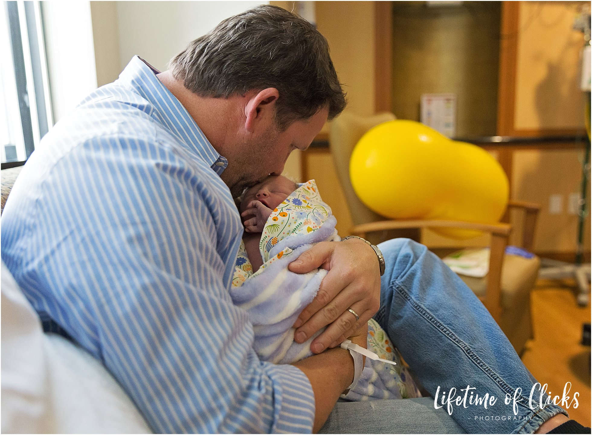 Katy TX Birth Photographer captures father and son photo
