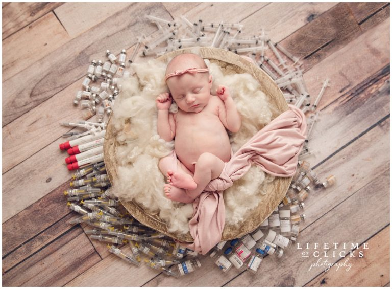 rainbow baby photography session