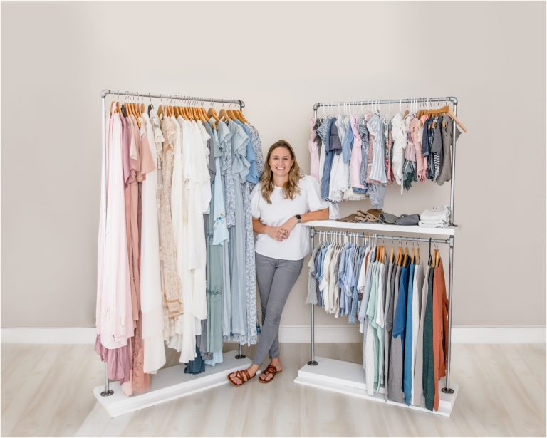 Image of Client Wardrobe for Mom, Dad and children with Kelly, from Lifetime of Clicks Photography, a Houston TX photographer.