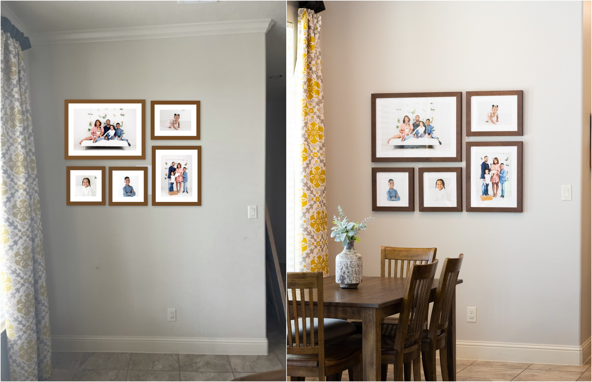 Before and after digital wall art design by Lifetime of Clicks Photography.